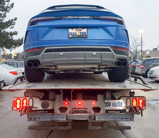 Luxury Vehicle Safe Towing by Tow Master from etobicoke