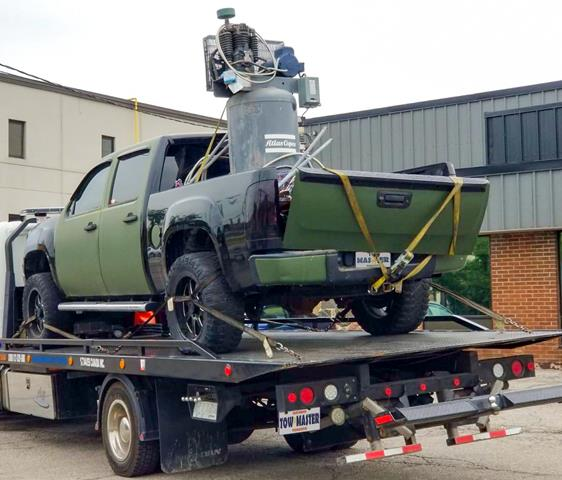 Heavy Equipment and Special Machinery  Safe Towing by Tow Master from Downtown Toronto